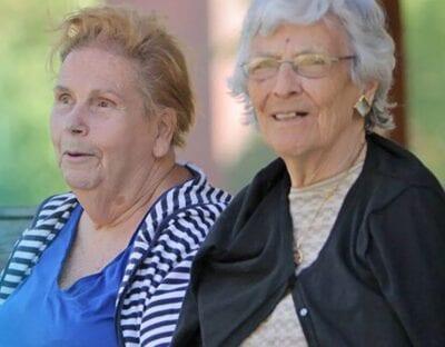 senior citizen lady friends